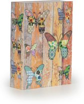 Boek kluis premium - 20 x 6,5 x 26,5 cm - Vlinders