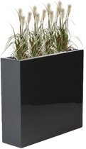 Enjoyplanter Polyester plantenbak Velvet 60x60x60 cm   Antraciet-zwart