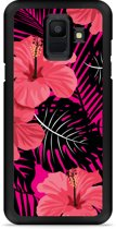 Galaxy A6 Hardcase Hoesje Tropical Flowers