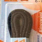 2.5 mm x 60 cm Zwart - Dunne ronde schoen veter 75% katoen