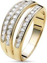 Twice As Nice ring in 18kt verguld zilver, zirkonia Wit 54