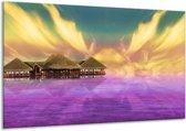 Canvas schilderij Uitzicht | Paars, Blauw, Geel | 120x70cm 1Luik