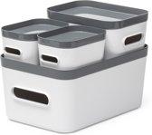 Orthex Opbergdoos 'Smartstore Compact' - set à 4 - grijs