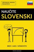 Naučite Slovenski - Brzo / Lako / Učinkovito