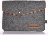 """Laptop & Apple Macbook Air / Pro (Retina) 11 Inch Vilten Soft Sleeve - 11.6"""" Case - Bescherming Cover Hoes - Zwart Grijs"""