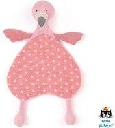 Jellycat - Flamingo - Knuffeldoekje - 25 centimeter - Lulu Flamingo Soother - Babydoekje - Kraamcadeau voor meisje - Tutdoekje - Deze mooie Babyknuffel is het ideale kraamcadeau of ideaal voor het wat luxere knuffeldoekje / tutdoekje