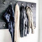 Kapstok Zwart 12 haken | Handgemaakt | Wandkapstok | Kapstok 2-laags