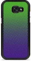 Galaxy A5 2017 Hardcase Hoesje lime paarse cirkels