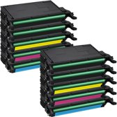 PlatinumSerie® set 10 toner XXL alternatief voor Samsung CLP-620 cyaan magenta yellow black