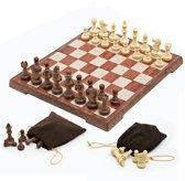 Original Old School Chessboard | Prachtig Schaakbord Met Karaktervolle Pionnen