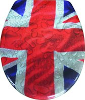 EISL WC-Bril ED69UJACK - Thermoplastiek - Soft Close - Afklikbaar - RVS-Scharnieren - Decor -3-zijdige Print - Union Jack