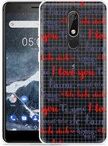 Nokia 5.1 Hoesje I Love you