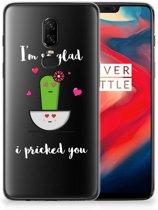 OnePlus 6 Telefoonhoesje met Naam Cactus Glad