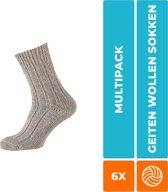 6-Pack Ouderwetse Noorse Sokken Noors Grof Apollo - Grijs - Unisex