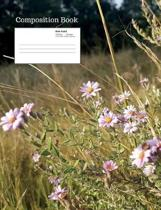 Wild Flower Composition Notebook, Wide Ruled