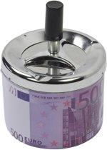 Druk asbak 500 euro biljet