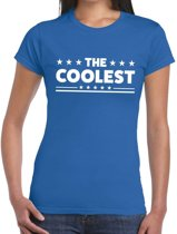 The Coolest tekst t-shirt blauw dames M