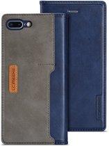 Leren Wallet Case - iPhone 7/8 Plus - Blauw/Grijs - LC.IMEEKE