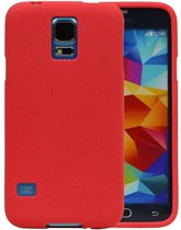 Samsung Galaxy S5 Hoesje Sand Look TPU Rood
