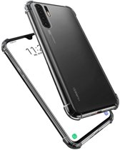 Epicmobile - Huawei P30 Pro Anti-shock hoesje – Schokabsorberend flexibel silicone - Transparant