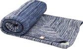 Snoozebaby - wiegdeken stylish cocooning indigo blue (75x100cm, 100% katoen)
