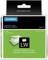 6x Dymo duurzame etiketten LabelWriter 28x89mm, 130 etiketten