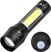 Oplaadbare 2 in 1 USB LED Zaklamp - 2 stuks - Herlaadbare Rechargable Zoom Flashlight - Oplaadbaar 550 Lumen
