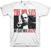 Godfather Loyalty t-shirt heren wit M