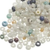 Rocailles (3 mm) Marble Mix (50 Gram)