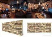 4X 3D wandpanelen, kunst steenstrips, wandbekleding, steenstrips binnen buiten, 3D wanden, wandtegels, muurtegels, brickstone, muurdecoratie, gevelbekleding, piepschuim steenstips baksteen