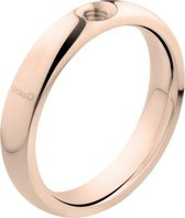 Melano twisted Tracy ring - Roségoudkleurig - Dames - Maat 54