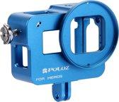 PULUZ behuizing Shell CNC Aluminum Alloy beschermende Cage met veiligheids Frame & 52mm UV Lens voor GoPro HERO5(blauw)