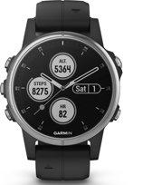 Garmin Fenix 5S Plus - GPS multisport smartwatch met polshartslagmeter - Ø 42 mm - Zwart/ Zilver