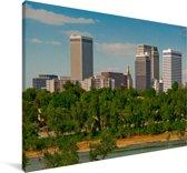 De skyline van het Amerikaanse Tulsa Canvas 90x60 cm - Foto print op Canvas schilderij (Wanddecoratie woonkamer / slaapkamer)