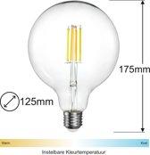 Zigbee Filament LED lamp   125mm   Instelbaar 2700K tot 6500K   Vervangt 60W gloeilamp   Grote fitting E27   compatible met Philips Hue en IKEA Home smart*