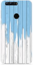 Honor 8 Hoesje Dripping blue paint