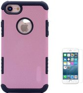Teleplus iPhone 8 Armor Hybrid Double Layer Cover Case Rose Gold + Glass Screen Protector hoesje