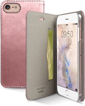 SBS Mobile Book case credit card Gold line iPhone 7 Rose Gold