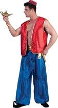 1001 Nacht & Arabisch & Midden-Oosten Kostuum | 1001 Nachten Vest Rood Man | Maat 56-58 | Carnaval kostuum | Verkleedkleding