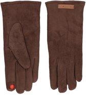 Touchscreen handschoenen taupe suede voor dames - Smartphone handschoenen - Mobiele telefoon gadgets