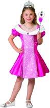 Prinsessenjurk Pinky | Maat 116 | Carnaval kostuum | Verkleedkleding
