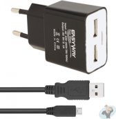 Acer dual poort oplader incl. 1 microUSB datakabel