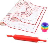 Herbruikbare siliconen bakmat - Anti slip - Anti kleef -  Hittebestendige deegmat -  Patisserie ovenmat -  inclusief E-book