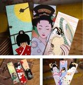 ProductGoods - 30x Leuke Vintage Japanse stijl boekenleggers