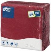 Tork tissue servet 39x39cm 2-laags 1/4-vouw burgundy 12x150