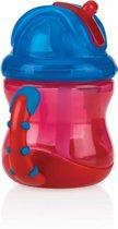 Nûby - Flip-It™ Antilekbeker met Handvatten - Rood - 240ml - 12m+