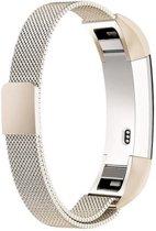 Milanees bandje geschikt voor Fitbit Alta - gemaakt van RVS - Band met magneetsluiting - KELERINO. - Champagne