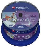 Verbatim DVD+R DL Wide Inkjet Printable 8x