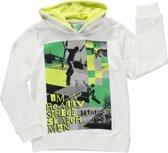 Losan Jongenskleding - Witte hooded sweater - 313-6000 - Maat 140