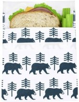 Lunchskins sandwich bag , Charcoal Bear